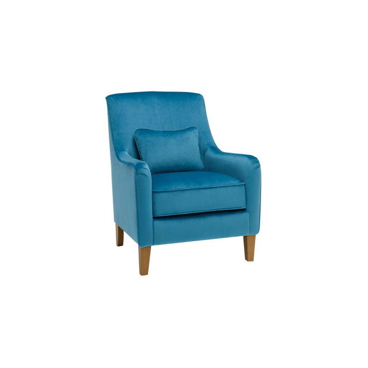 Sydney Accent Chair in Opulence Cerulean Velvet - Image 1