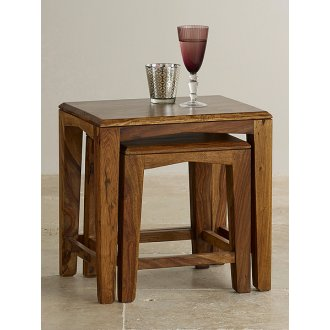 Tali Solid Rosewood Nest of 2 Tables