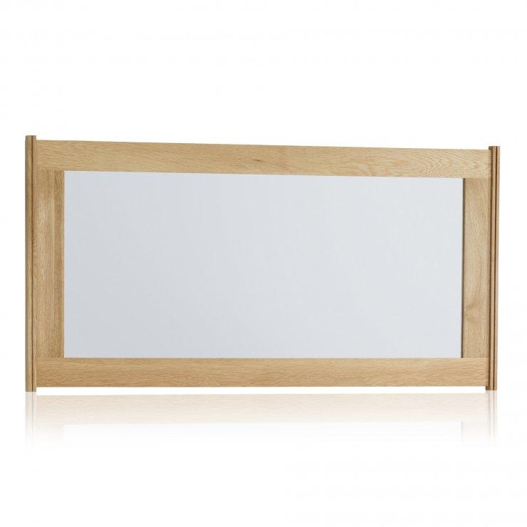 Tokyo Natural Solid Oak 1200mm x 600mm Wall Mirror - Image 3