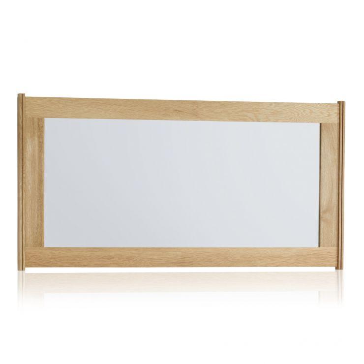 Tokyo Natural Solid Oak 1200mm x 600mm Wall Mirror - Image 4
