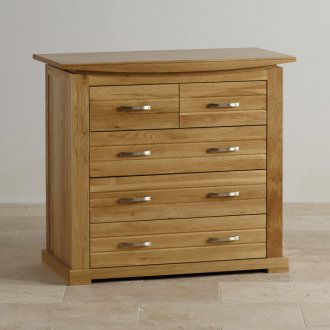 Tokyo Natural Solid Oak 3+2 Drawer Chest