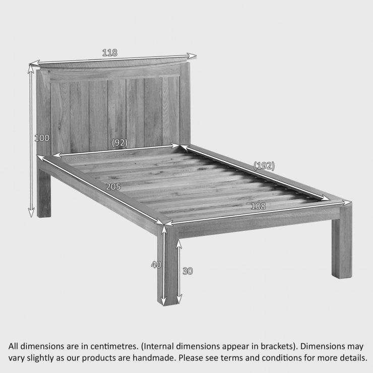 Tokyo Natural Solid Oak 3ft Single Bed