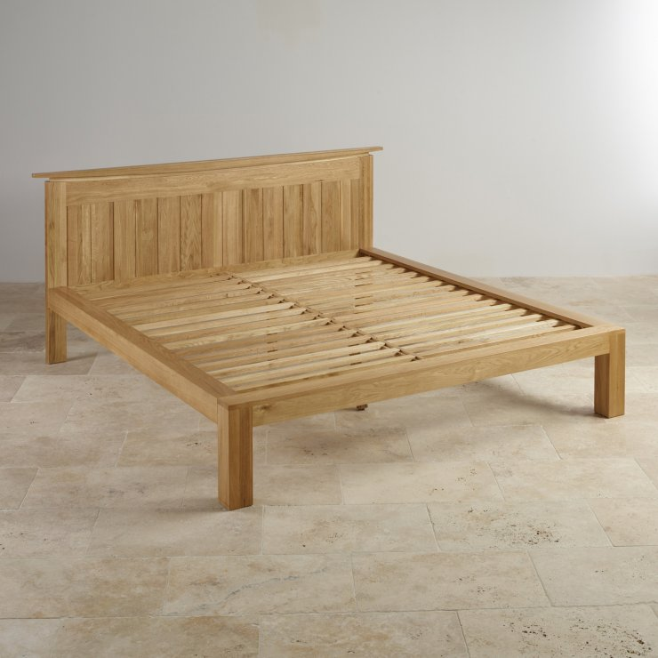"Tokyo Natural Solid Oak 4ft 6"" Double Bed"