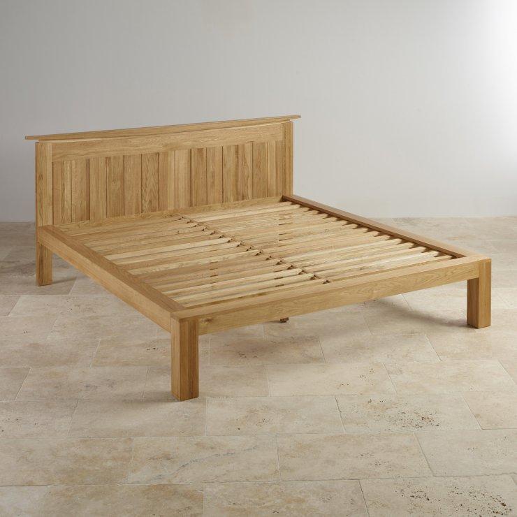 Tokyo Natural Solid Oak 5ft King-Size Bed