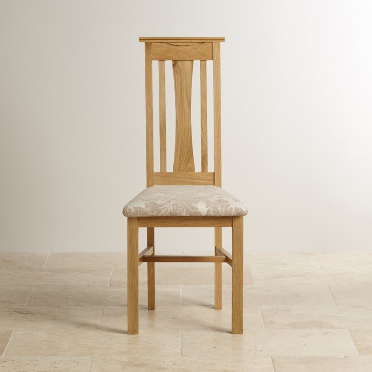 Tokyo Dining Chair In Natural Solid Oak Beige Patterned