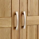 Tokyo Natural Solid Oak Double Wardrobe - Thumbnail 4