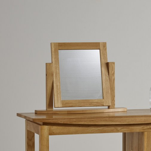 Tokyo Natural Solid Oak Dressing Table Mirror