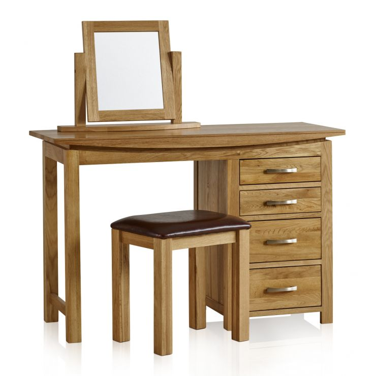 Tokyo Natural Solid Oak Dressing Table Set - Image 7