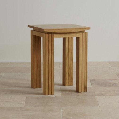 Tokyo Natural Solid Oak Lamp Table