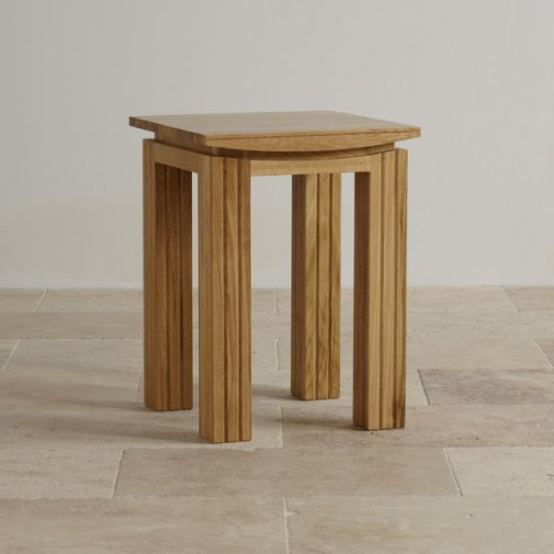 Tokyo Natural Solid Oak Lamp Table