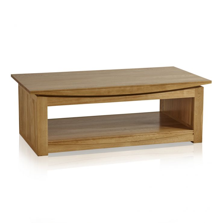 Tokyo Natural Solid Oak Large Coffee Table - Image 4