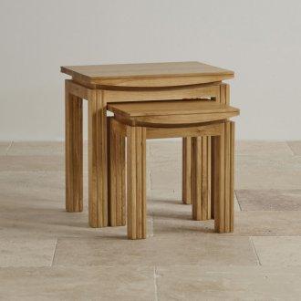 Tokyo Natural Solid Oak Nest of Tables