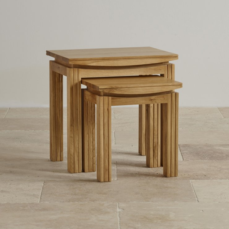 Tokyo Natural Solid Oak Nest of Tables