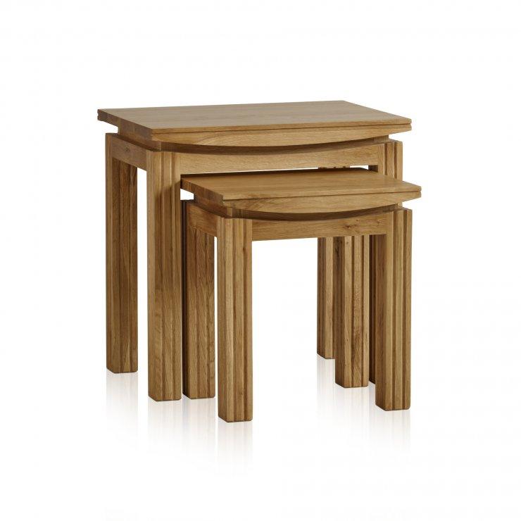 Tokyo Natural Solid Oak Nest of Tables - Image 4