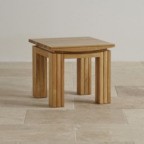 Tokyo Natural Solid Oak Side Table
