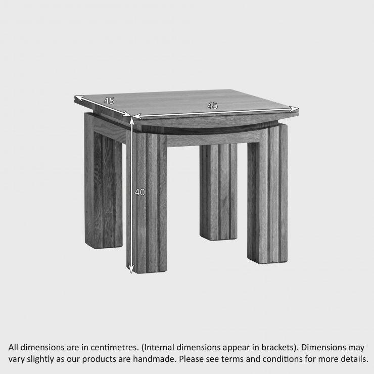 Tokyo Natural Solid Oak Side Table