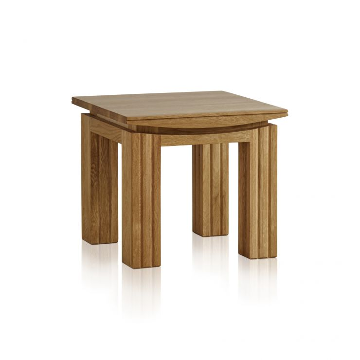 Tokyo Natural Solid Oak Side Table - Image 4