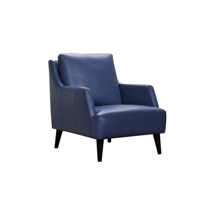 Trend Sky Blue Leather Accent Chair