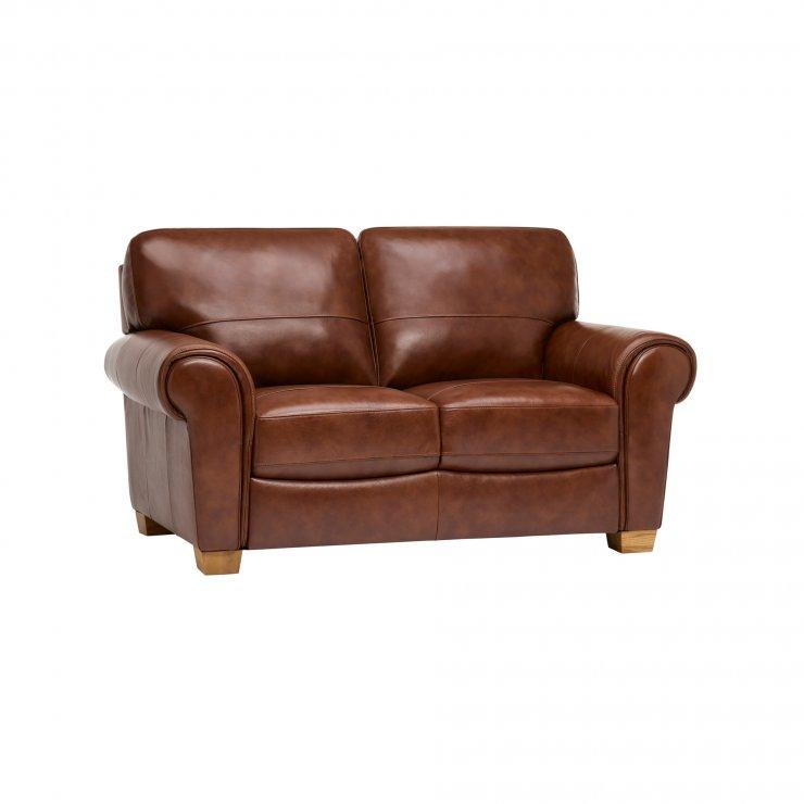 Verona 2 Seater Sofa - Tan Leather - Image 8