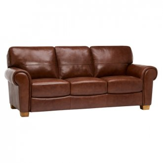 Verona 3 Seater Sofa - Tan Leather