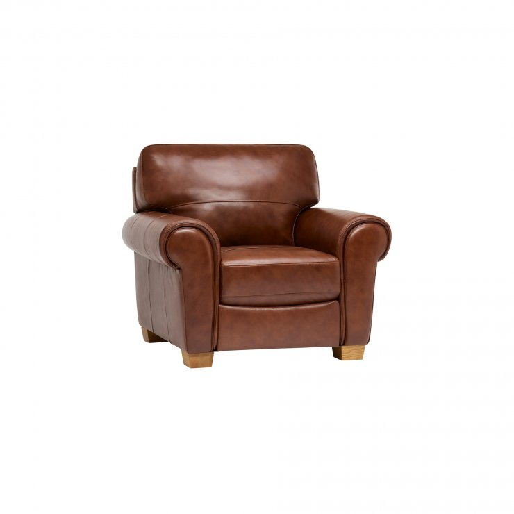 Verona Armchair - Tan Leather - Image 1
