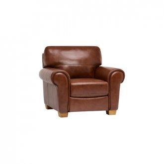 Verona Armchair - Tan Leather
