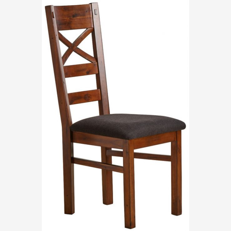 Victoria Solid Hardwood and Plain Black Fabric Dining Chair - Image 4