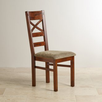 Victoria Solid Hardwood and Plain Sage Fabric Dining Chair