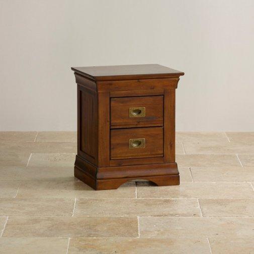 custom delivery victoria solid hardwood 2 drawer bedside table