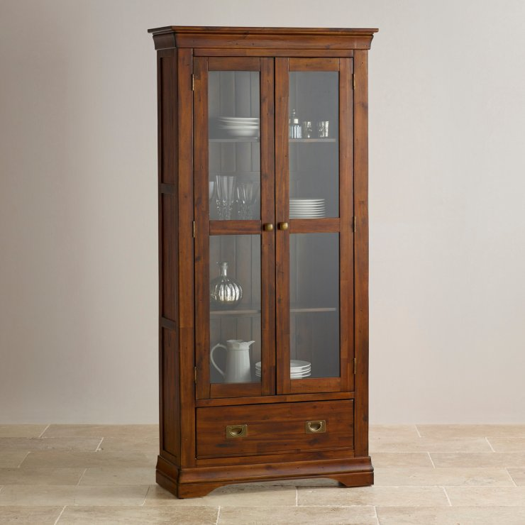 Victoria Solid Hardwood Glazed Display Cabinet