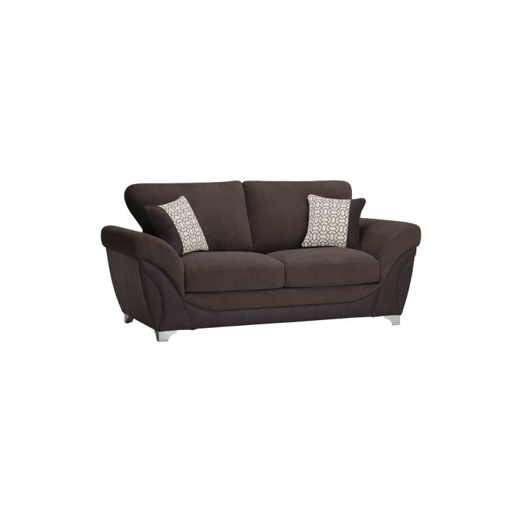 Vienna 2 Seater Sofa Bed with Standard Mattress in Aero Charcoal Fabric with Silver Scatters - Image 7