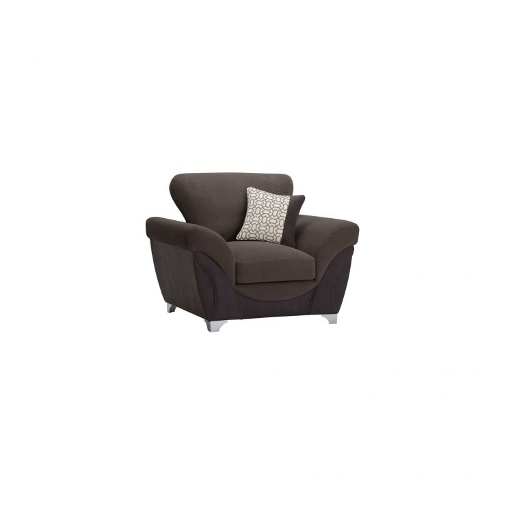Vienna Armchair in Aero Charcoal Fabric with Silver Scatters - Image 8