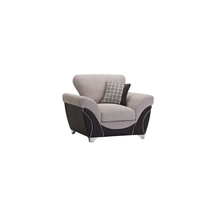 Vienna Armchair in Aero Silver Fabric with Black Scatters - Image 8