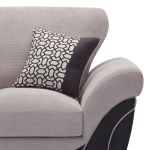 Vienna Armchair in Aero Silver Fabric with Black Scatters - Thumbnail 5