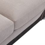 Vienna Left Hand Pillow Back Corner Sofa in Aero Silver Fabric with Black Scatters - Thumbnail 4