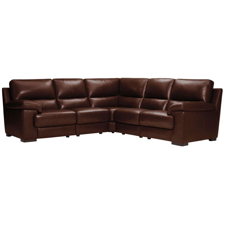 Vision Modular Group 3 in Brown Leather