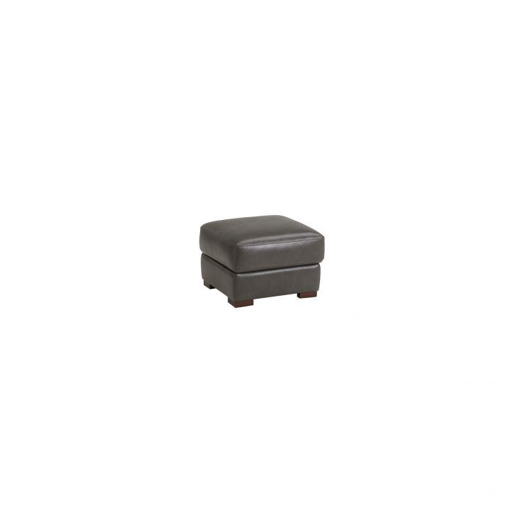 Vision Storage Footstool in Anthracite Leather