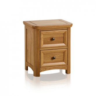Wiltshire Natural Solid Oak 2 Drawer Bedside Table