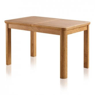 """Wiltshire Natural Solid Oak 4ft 3"""" Extending Dining Table"""