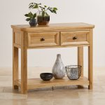 Wiltshire Natural Solid Oak Console Table - Thumbnail 3