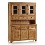 Wiltshire Natural Solid Oak Large Dresser - Thumbnail 1