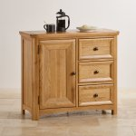 Wiltshire Natural Solid Oak Storage Cabinet - Thumbnail 3