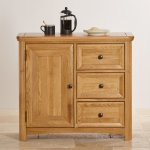 Wiltshire Natural Solid Oak Storage Cabinet - Thumbnail 4
