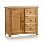 Wiltshire Natural Solid Oak Storage Cabinet - Thumbnail 1