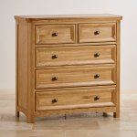 Wiltshire Solid Oak 2+3 Chest of Drawers - Thumbnail 2