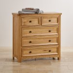 Wiltshire Solid Oak 2+3 Chest of Drawers - Thumbnail 3