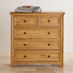 Wiltshire Solid Oak 2+3 Chest of Drawers - Thumbnail 4
