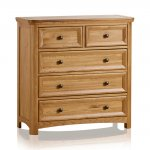 Wiltshire Solid Oak 2+3 Chest of Drawers - Thumbnail 1