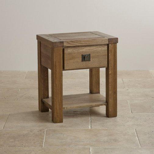 Windsor Brushed Solid Oak Lamp Table