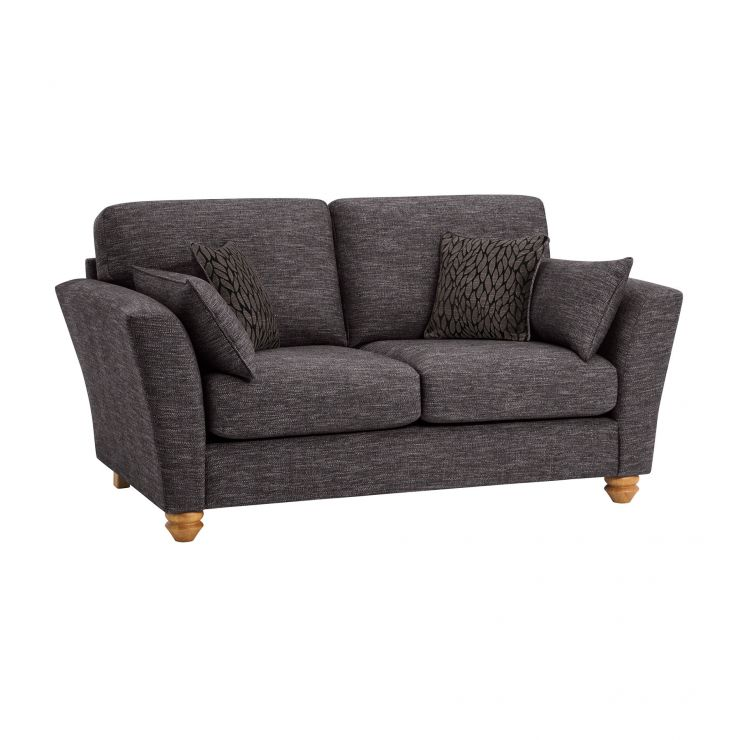 Witney 2 Seater Sofa in Charcoal with Charcoal Scatters